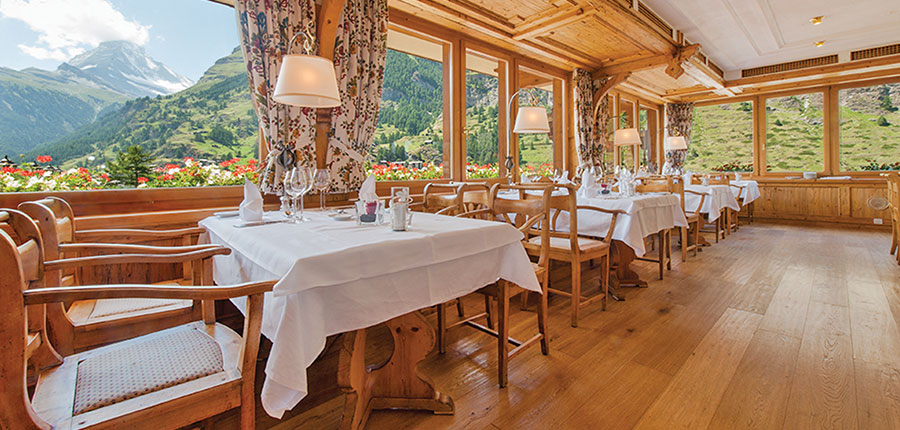 Hotel Schönegg, Zermatt, Switzerland - Restaurant with Matterhorn views.jpg